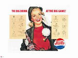 Pepsi - Big Drink at the Big Game, Vintage 1950's Ad Wall Decal