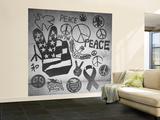 Peace Symbols Wall Mural – Large by  Junk Food