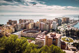 Aerial View of Malaga Bullring and Harbor. Spain Photographic Print by  amok