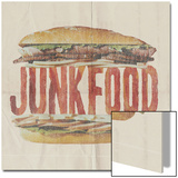 JUNKFOOD Meat Sandwich Prints by  Junk Food