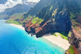 Na Pali Coast on Kauai Island Fotografisk tryk af  SergiyN