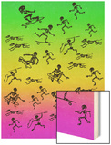 Human and Dog Skeletons Skateboarders and Warriors Wood Print by  Junk Food