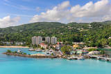 Aerial View of Ocho Rios, Jamaica in the Caribbean Photographic Print by Gino Santa Maria