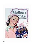 Pepsi - Vintage 1950s Take Home a Carton Ad Metal Print