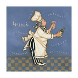 Wine Chef Prints by Stephanie Marrott