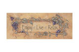 Enjoy Live Relax Posters by Stephanie Marrott