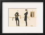 Gentleman Chooses a Tie to Purchase Poster by Bernard Boutet De Monvel