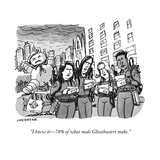 """I knew it—78% of what male Ghostbusters make."" - Cartoon Reproduction giclée Premium par Joe Dator"