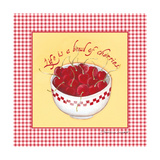Bowl of Cherries Prints by Stephanie Marrott