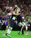 Rob Ninkovich & Julian Edelman Super Bowl XLIX Action Photo