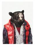 Ours noir Posters par  Animal Crew