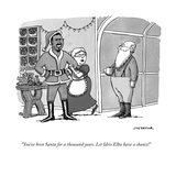 """""""You've been Santa for a thousand years. Let Idris Elba have a chance!"""" - Cartoon Premium Giclee Print by Joe Dator"""