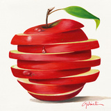 Red Apple Cut Posters by Paolo Golinelli