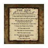 The Ten Commandments Posters af Jennifer Pugh