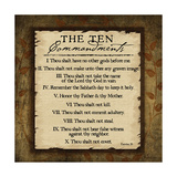 The Ten Commandments Premium Giclee Print by Jennifer Pugh