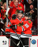 Jonathan Toews & Patrick Kane 2014-15 Action Photo