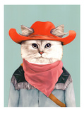 Rodeo Cat Kunstdruck von  Animal Crew