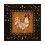 Square Rooster Right Premium Giclee Print by Kim Lewis