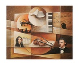 Chopin compose a Nohant Photographic Print by Frank Godille