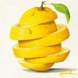 Lemon Cut Prints by Paolo Golinelli