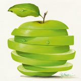 Green Apple Cut Prints by Paolo Golinelli