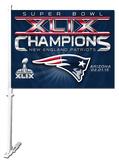 Super Bowl XLIX Champion New England Patriots Car Flag Flag