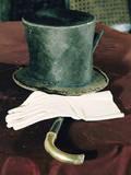 Abraham Lincolns Hat, Cane, and Gloves Photographic Print by Joe Scherschel