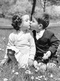 Springtime in Rome (toddlers kissing) Art