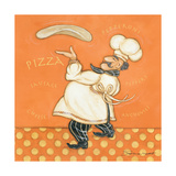Pizza Chef Art by Stephanie Marrott