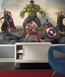 Avengers Age of Ultron Ground Attack XL Chair Rail Prepasted Mural Wallpaper Mural