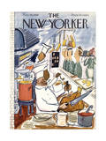 The New Yorker Cover - November 25, 1950 Regular Giclee Print by Ludwig Bemelmans
