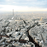 White Paris Print by Anne Valverde