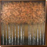 Copper Forest Art by Charlene Lynch