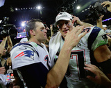 Tom Brady and Rob Gronkowski New England Patriots Super Bowl XLIX Photo