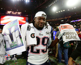 LeGarrette Blount Celebrates Winning Super Bowl XLIX Photo