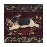 Folk Bunny II Posters by Jo Moulton