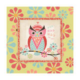 Owl 4 Frame Prints by Stephanie Marrott