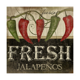 Fresh Jalapenos Art by Jennifer Pugh