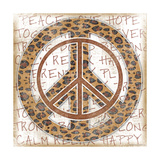Peace Leopard Print by Jennifer Pugh