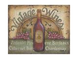 Vintage Wines Posters by Kim Lewis