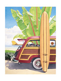 Long Board and Car Posters by Evelyn Jenkins-Drew