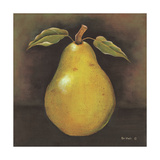 Green Pear Art by Kim Lewis
