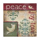 Peace Joy Love Premium Giclee Print by Kim Lewis