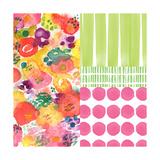 Patchwork III Print by Linda Woods