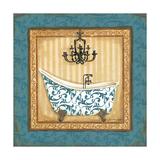 Blue Slipper Bath I Posters by Jo Moulton