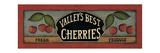 """Kirschen von """"Valley's Best"""" Kunstdrucke von Kim Lewis"""