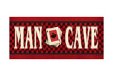 Man Cave - Red Posters by Jo Moulton