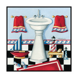 Nautical Bath II Poster by Kathy Middlebrook