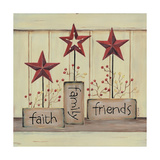 Faith Family Friends Prints by Karen Tribett