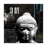 Urban Buddha I Kunst von Linda Woods